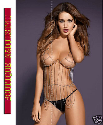 *** Ensemble 2 Pieces Lingerie Obsessive Punker Chaines  String  - Colissimo  **