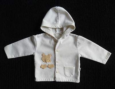 Baby clothes BOY GIRL 3-6m cream lightweight bear coat/jacket hood COMBINE POST!