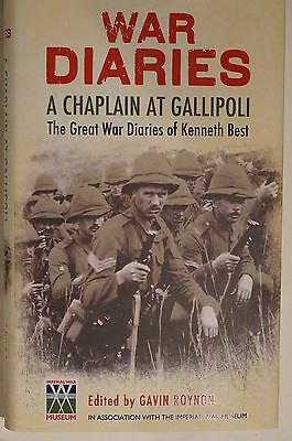 WW1 British War Diaries Chaplain at Gallipoli Kenneth Best Reference Book