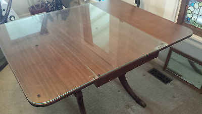 Mahogany Duncan Phyfe Table & 4 Matching Chairs - 78""