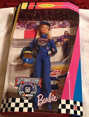 Mattel Barbie 50th Anniv Edition Nascar 1948-1998 Collector Doll NIP