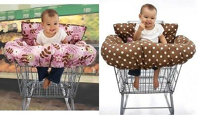 NoJo Emily Reversible Shopping Cart Cover Pink/Brown