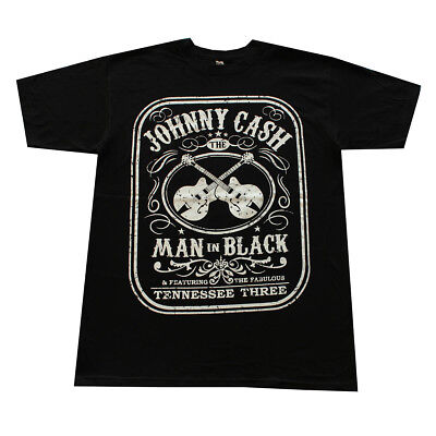 JOHNNY CASH Graphic Shirt Man in Black