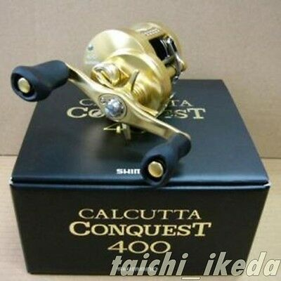 New SHIMANO CALCUTTA CONQUEST 400 (RIGHT HANDLE) Bait Casting Reel Japan EMS