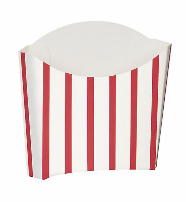 8 Striped Snack Containers - Fries Box Party/Loot/Wedding Cinema Empty Pop Corn