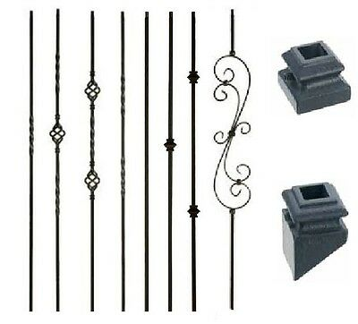 Iron Balusters Iron Spindles Metal Stair Parts Hollow Satin Black