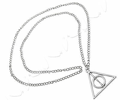 Harry Potter Theme Necklace Chain The Deathly Hallows Charm Pendant