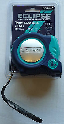 ECLIPSE METRIC/IMPERIAL 8M/26ft TAPE MEASURE E30440 AUTO LOCK TAPE