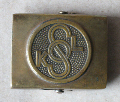 OLD CZECHOSLOVAK SOKOL BELT WITH BUCKLE / MEMORABILIA / ca 1925