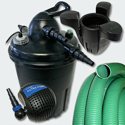 TTPressurised Filter Set 15000l 24W UV Sterilizer Pond Pump Skimmer 30