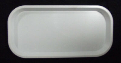 Kabi Plastic long, thin, White Catering Tray KB7