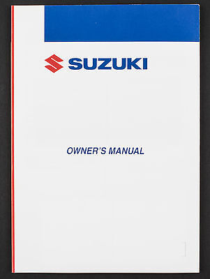 Genuine Suzuki Motorcycle Owners Manual For GSX-R750 (2007) 99011-02H51-01A
