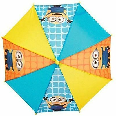 Despicable Me Minions Umbrella Brolly Children Kids Unisex Waterproof Dome Rain