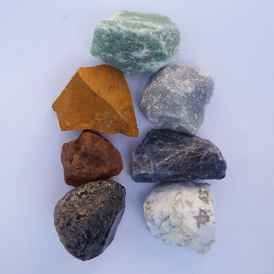 7 Chakra Stone set kit Crystal Natural raw rough healing Sacral reiki obsidian