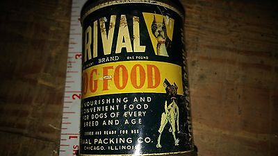 Rival Dog Food Advertising Metal Can Bank Collectable Early Version