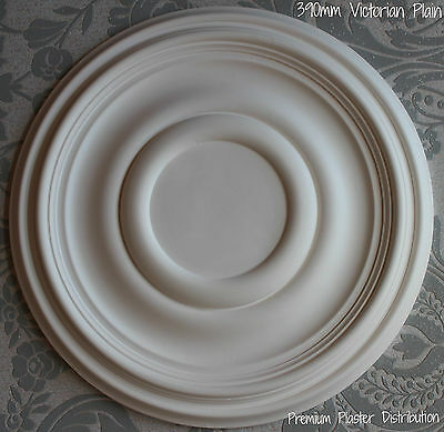 """Plaster Ceiling Rose Plain Traditional Victorian Design 390 mm / 15"""" Hand Made"""
