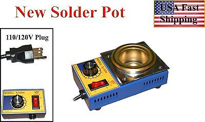 Solder Pot, Soldering Bath/Station, 50mm Pot, 500g capacity, 110/120V Plug - USA