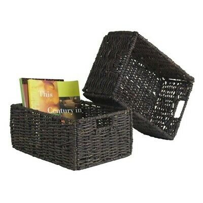 Winsome Granville Set of 2 Medium Foldable Baskets in Chocolate