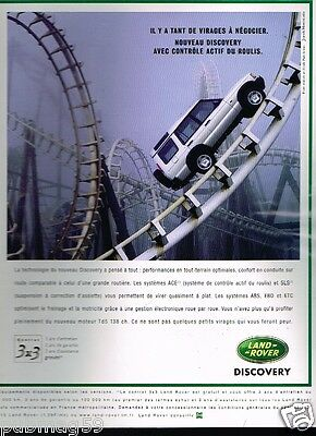 Publicité advertising 1999 Land Rover Discovery