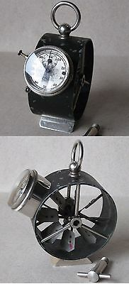 Antique German Technical Measuring Instrument Device Anemometer Windmeter