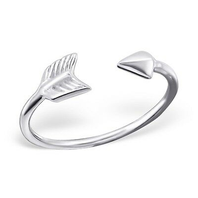 925 Sterling Silver Arrow Toe Ring - Boxed