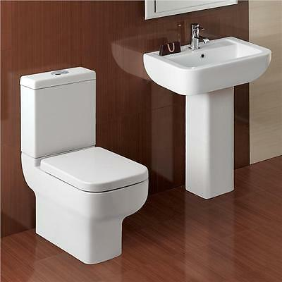 Modern 2 Piece Toilet Suite Basin & Toilet with Soft Close Seat