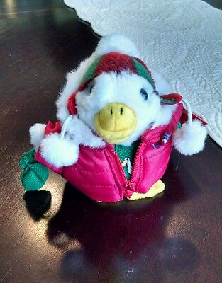 Aflac Holiday Christmas Duck 2008 Winter Coat & Sweater Macy's Collectible