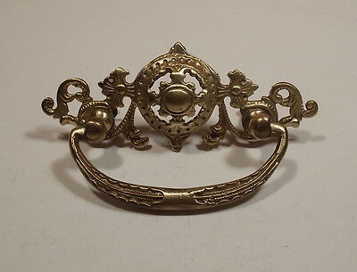 One Original large Vintage brass pull