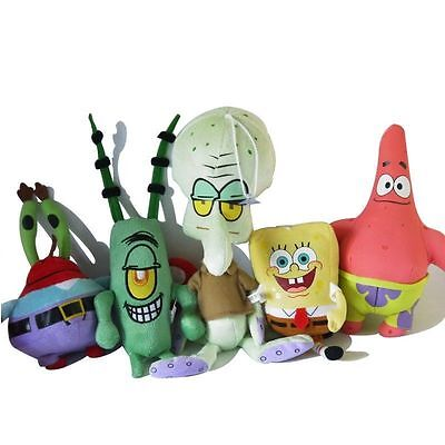 1Pc Small Spongebob Squarepants Character Figures Soft Plush Kids Baby Toy Doll