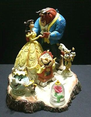 "Jim Shore Disney Traditions Beauty and the Beast Statue ""Tale as Old as Time"""