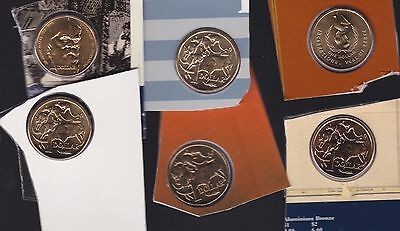 $1 UNC Coin Collection Australia out of Sets 1996 1991 1989 1987 1986 1998 M-825