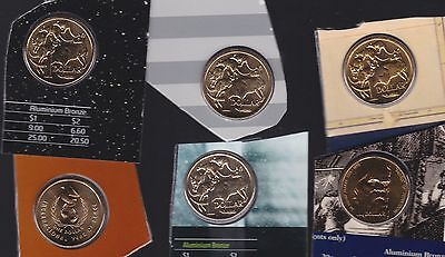 $1 UNC Coin Collection Australia out of Sets 2008 1986 1987 2013 1998 1996 M-833