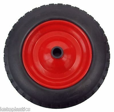 "PU 16"" solid METAL puncture proof Wheel Barrow wheel Tyre 4.80-8 with 16MM BORE"
