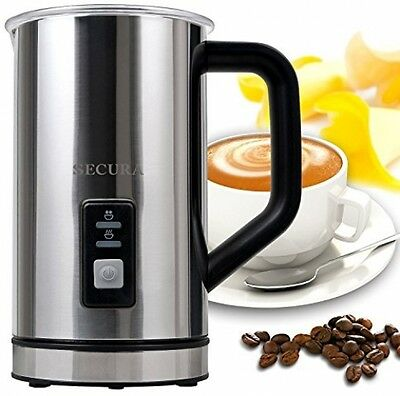 Milk Frother Secura Automatic Electric W/ Warmer 250ml Espresso Coffee Maker New