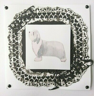 Bearded Collie Blank Greeting Card Handcrafted by Curiosity Crafts