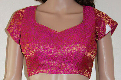 Pink choli saree sari blouse dupatta backless bellydancer beachwear