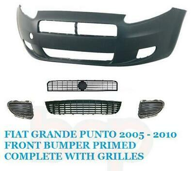 Fiat Punto Grande 2005 – 2010 Front Bumper Primed Complete With All Grilles New