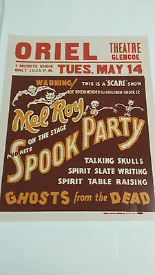 Vintage Magic Show Freakshow Horror Haunted House Carnival Circus  POSTER