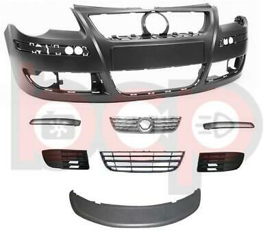 Vw Polo 9N3 05-09 Front Bumper Primed Complete With All Grilles & Trims