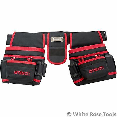 Am-Tech N0980 Double Tool Belt & Nail Pouch 20 Pockets Storage Tape Holde