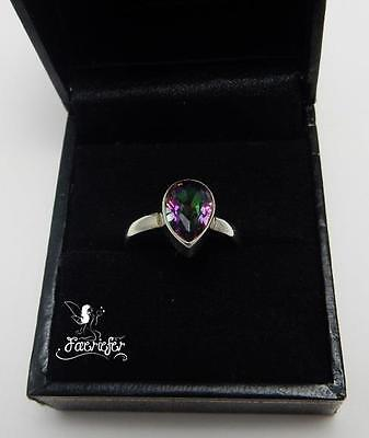 Mystic Topaz Ring magical mystical gemstone .925 solid sterling silver genuine