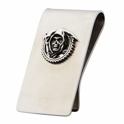 Sons Of Anarchy Stainless Steel Money Clip Grim Reaper