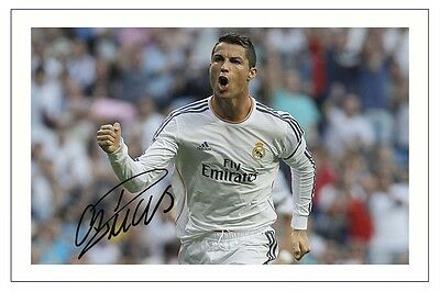 Cristiano Ronaldo Real Madrid Signed Autograph Photo Print  Soccer