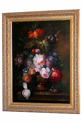 A Large Oil On Canvas Of Still Life 265-8395