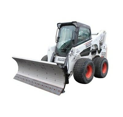 "108"" HD Series Snow Plow for Skid Steer Loaders- With free tire studs!"