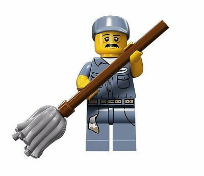 NEW LEGO MINIFIGURE​​S SERIES 15 71011 - Janitor