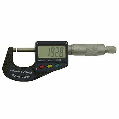 0-25mm 0-1 inch External/Outside Digital Micrometer With Large Display