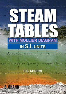 NEW Steam Tables: With Mollier Diagram in S.I.Units by R.S. Khurm
