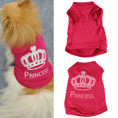 Summer Pet Dog Cat Cute Princess T-shirt Vest Coat Pet Puppy Clothes Costumes