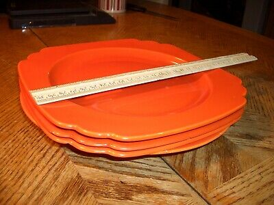 """FIESTA RED"" (Orange)  9""  FIESTAWARE PLATES,  1936-1943,  $35.00 EA. + SHIPPING"